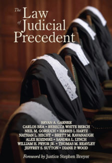 Cover for The Law of Judicial Precedent